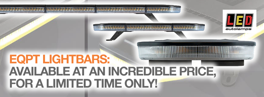 Be seen, be safe with the new EQBT LED lightbar range